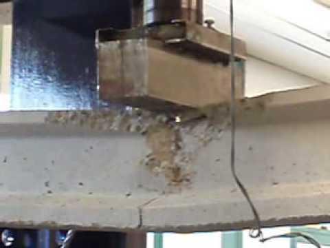 Ensayo flexion de vigueta pretensada hormigon youtube for Como hacer una pileta de hormigon