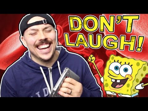 You Laugh, You Lose BLOOD! (Spongebob Edition) - This TRY NOT TO LAUGH challenge is the toughest on the entire Internet! If you're playing along at home, good luck!
