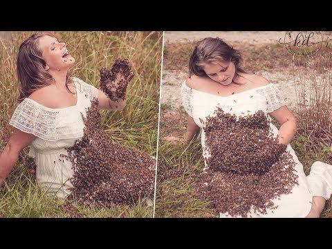 امرأة حامل وضعت النحل على بطنها وبعد أيام حدث شيء صدم الجميع