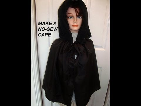 How to NO SEW CAPE, diy, witch, super hero, Red Riding Hood, dracula ...