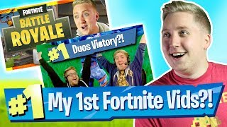 REACTING To My FIRST Fortnite Battle Royale Videos!