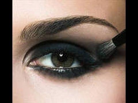 Черный макияж глаз поэтапно фото