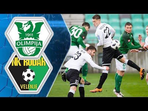 23. krog: Olimpija - Rudar 4:0 ; Prva liga Telekom Slovenije 2017/2018