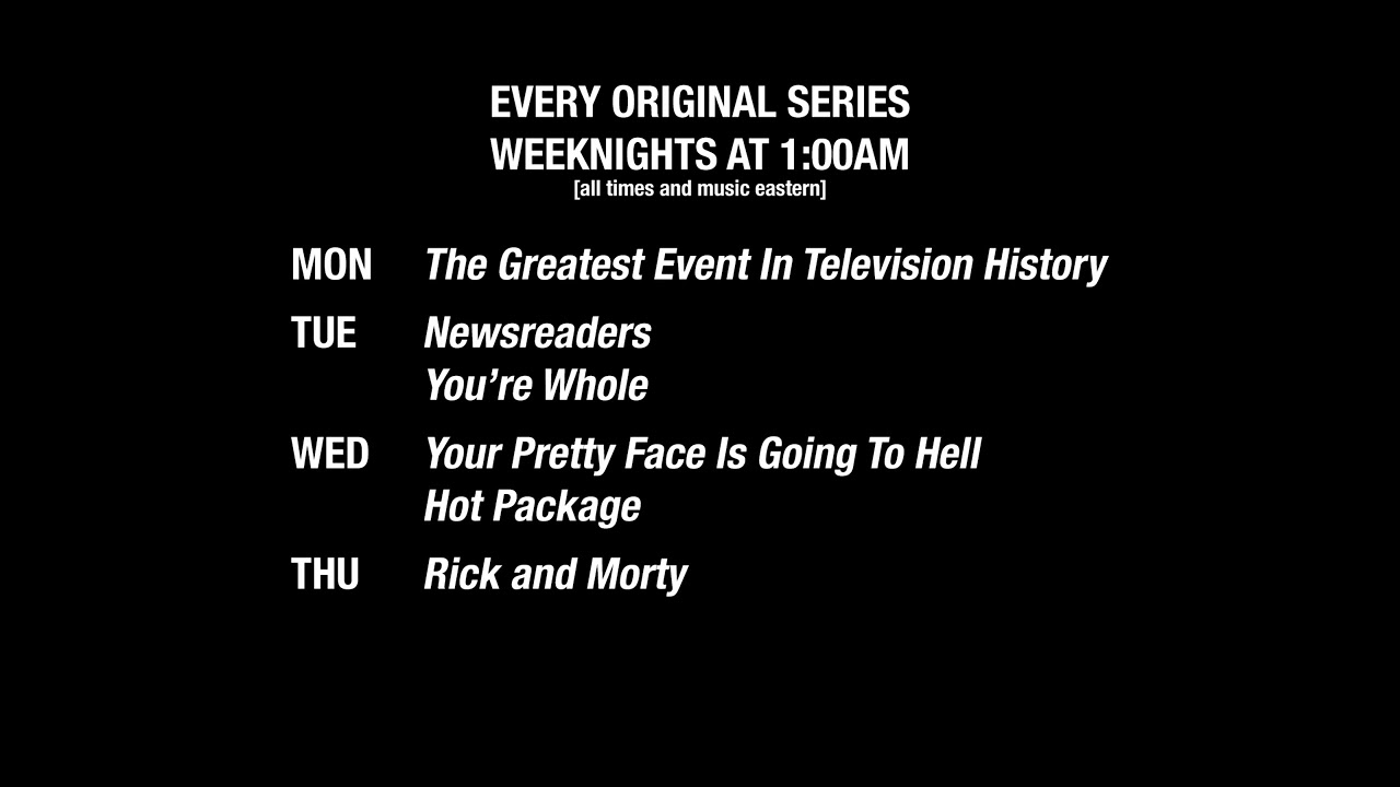 History of Adult Swim (Week 8) - Schedule Bump