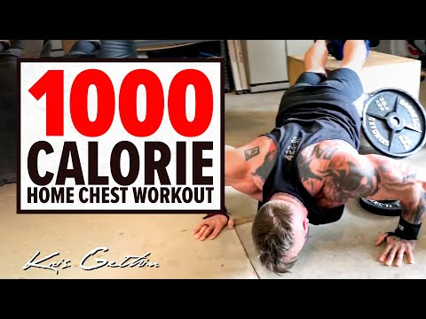 1000 Calorie Chest Home Workout