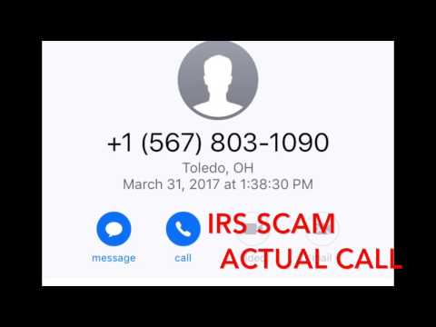 IRS Scam - Actual Call