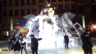 La Fontaine Bartholdi, Lyon (completely frosen)