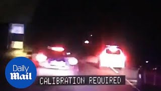 Football player CRASHES after leading police on 100mph chase!!