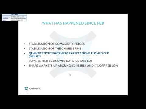 Webinar: Managing Portfolio's through volatility  August 2016