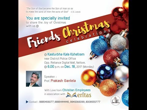 Friends Christmas Celebration - Nellore | Prakash Gantela
