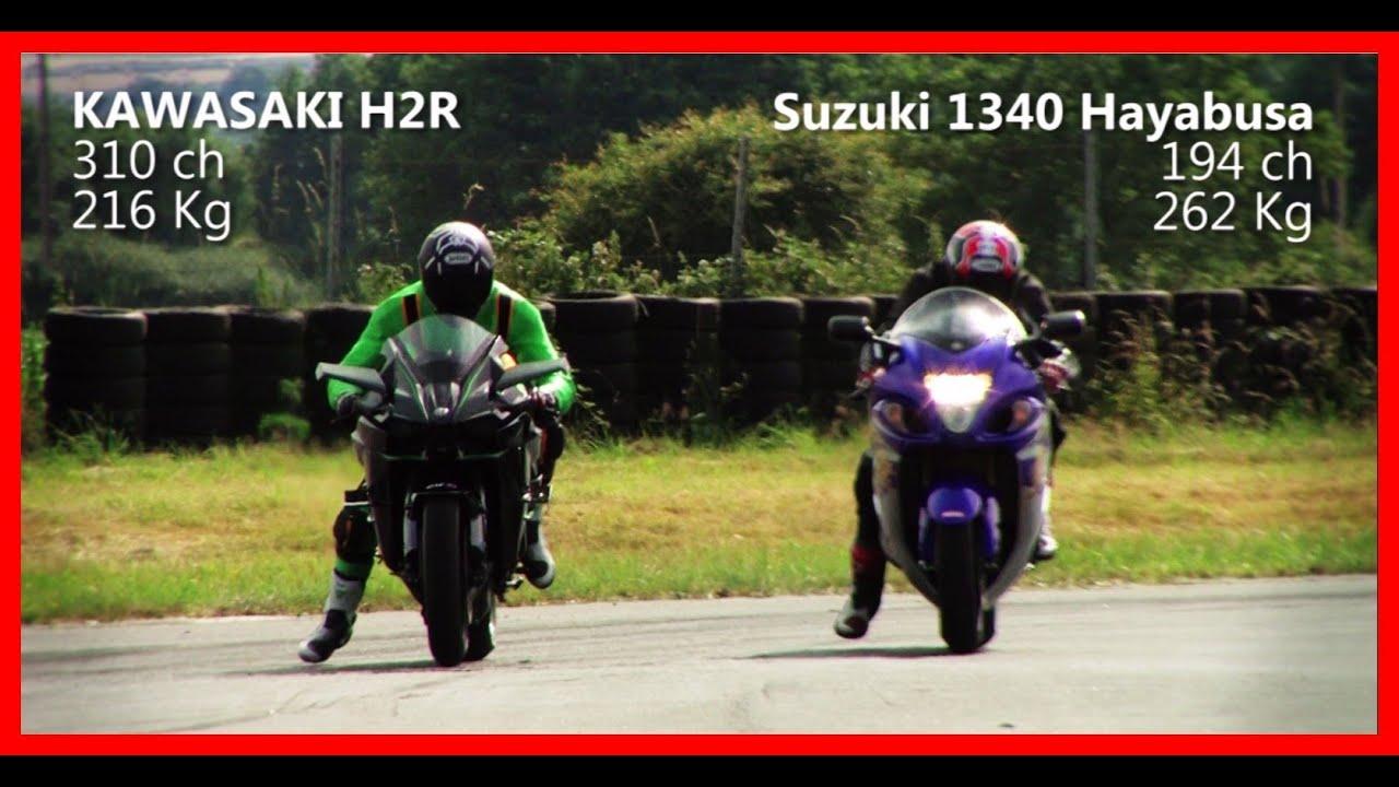 Kawasaki H2r Vs Suzuki Hayabusa 1340 Youtube