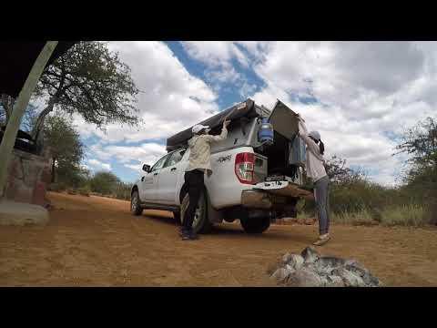 Namibia safari 4x4 Avis Ford Ranger rooftop tent
