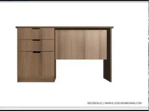 Planos como construir un escritorio con gavetas planos for Planos de escritorios