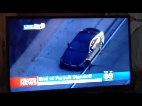 Santa Ana EB 91 freeway police pursuit