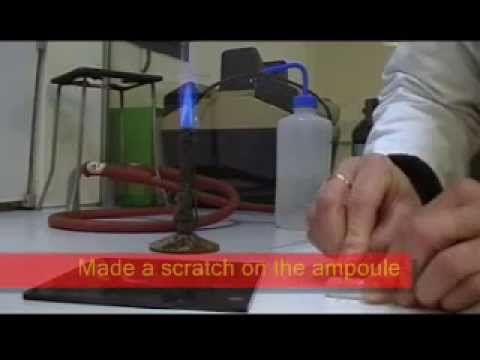 How to open sealed glass ampoules