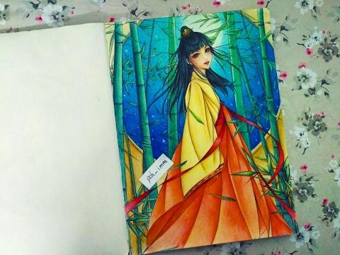 浮生賦|Chinese ancient colouring tutorial part 2