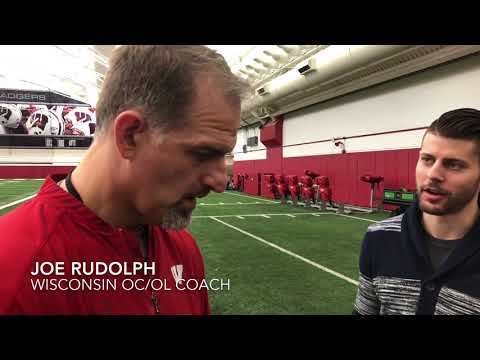 Wisconsin OC Joe Rudolph on offensive line, Taiwan Deal, more