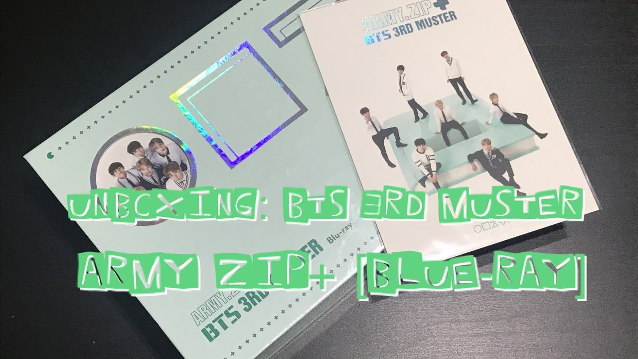 UNBOXING | BTS 3RD MUSTER - ARMY ZIP+ [Blue - Ray]