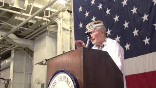 "Pearl Harbor Survivor Earl J. ""Chuck"" Kohler at USS Hornet Museum Living Ship Day 2013 part 2"
