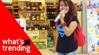 Grocery Store Karaoke Girl and Top 5 YouTube Videos for 9/17/12