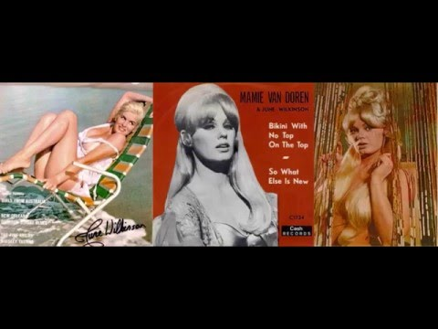 Mamie van Doren &  June Wilkinson  - bikini with no top on the top ('64)
