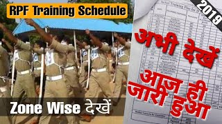 rpf constable and si training center rpf training kab hogi rpf training schedule official notice