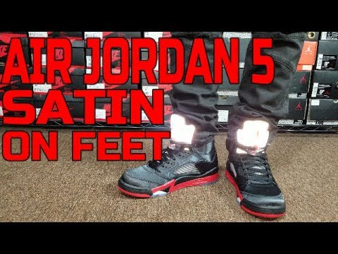 AIR JORDAN 5 SATIN REVIEW \u0026 ON FEET