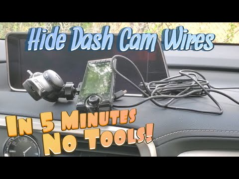How To HIDE Dash Cam Wires In 5 Minutes (NO Tools Required) Step By Step