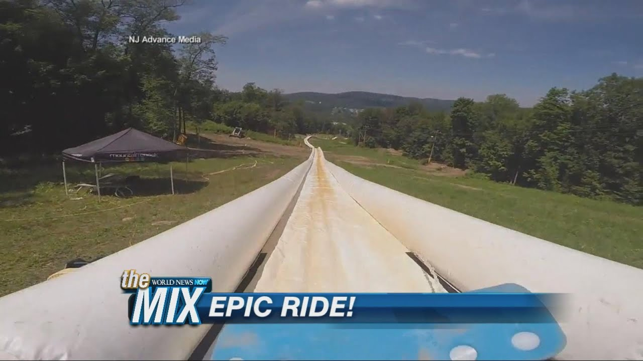 World S Longest Water Slide Youtube