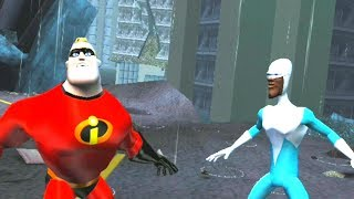 The Incredibles: Rise of the Underminer - All Boss Fights