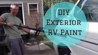 DIY Painting the Outside of our Rialta RV | Sailing Luna Sea RV Edition | S3 E3  | Travel Blog