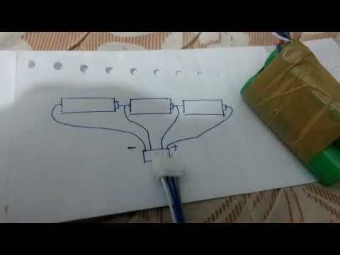How to make 12v lithium battery with 18650,