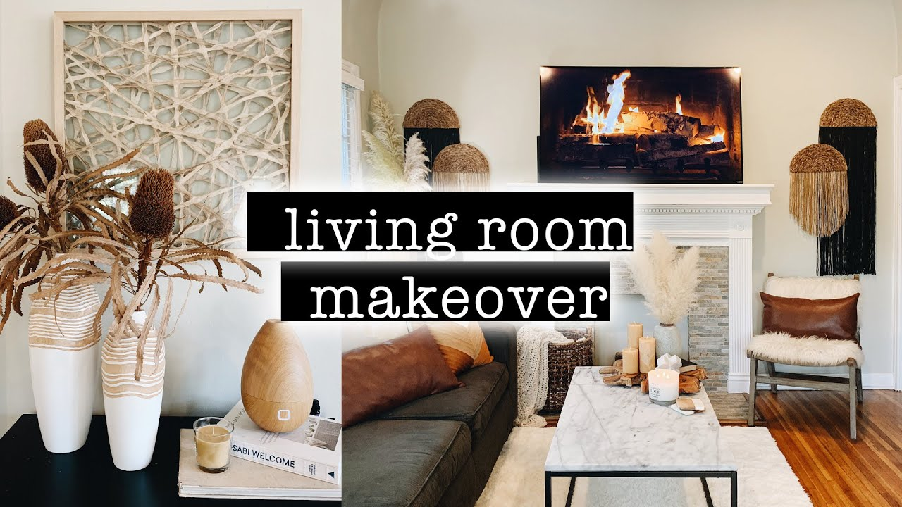 LIVING ROOM MAKEOVER on a Budget // Transformation PART 6  XO, MaCenna