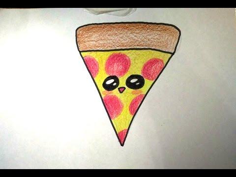 Desenhos Faceis De Fazer Como Desenhar Uma Fatia De Pizza Fofa