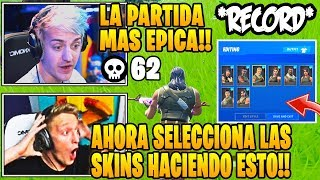 STREAMERS IMPRESSED BY NEW *RECORD* OF KILLS (62) IN FORTNITE! 😱 NEW SKINS SELECTOR 😍
