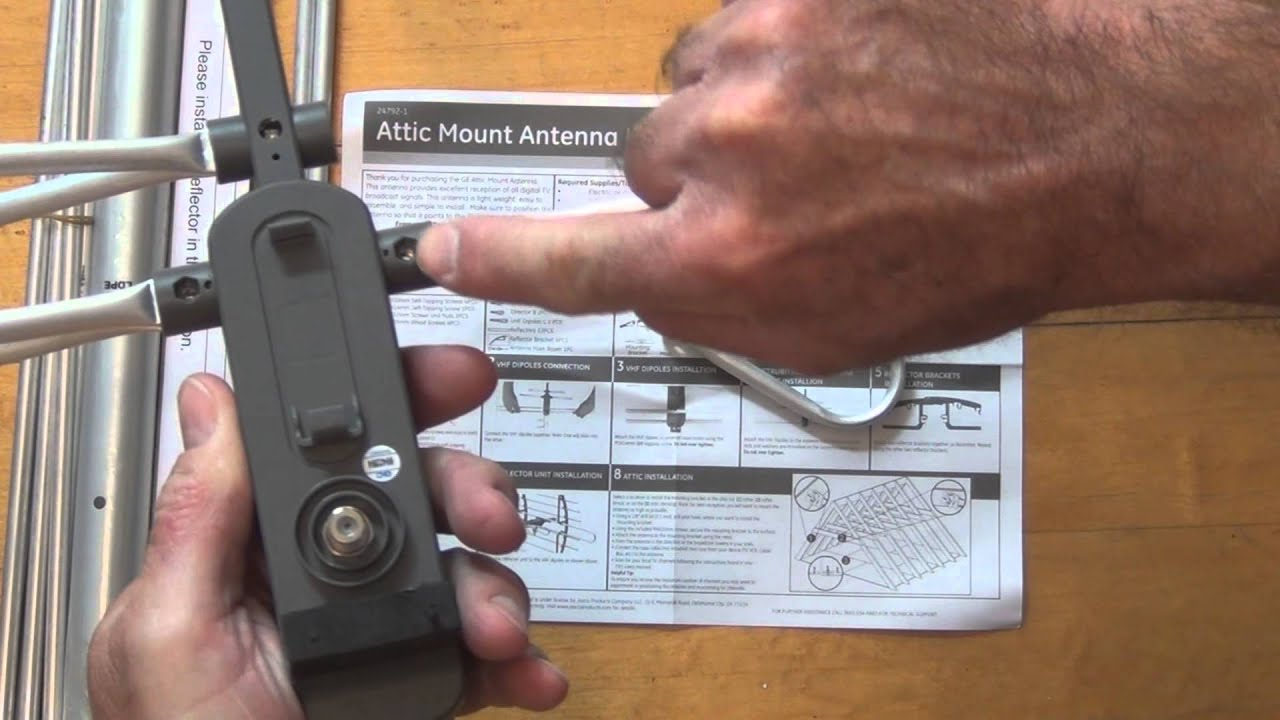 Ge 24792 Attic Mount Antenna Unboxing And Assembly Youtube
