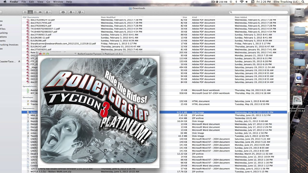 I Found Out How To Play Rollercoaster Tycoon On My Macbook