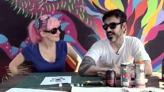MariMoon aprende fazer Stencil Art @ Acesso MTV (02/09)