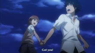 Railgun - Misaka fights Touma (English Subs)