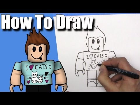 how-to-draw-denis-daily-from-roblox---easy---step-by-step