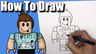 How To Draw Denis Daily from Roblox - EASY - Step By Step