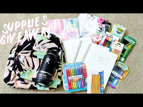 Back To School Supplies Haul + Giveaway 2019!