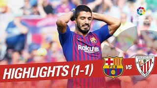 Resumen de FC Barcelona vs Athletic Club (1-1)