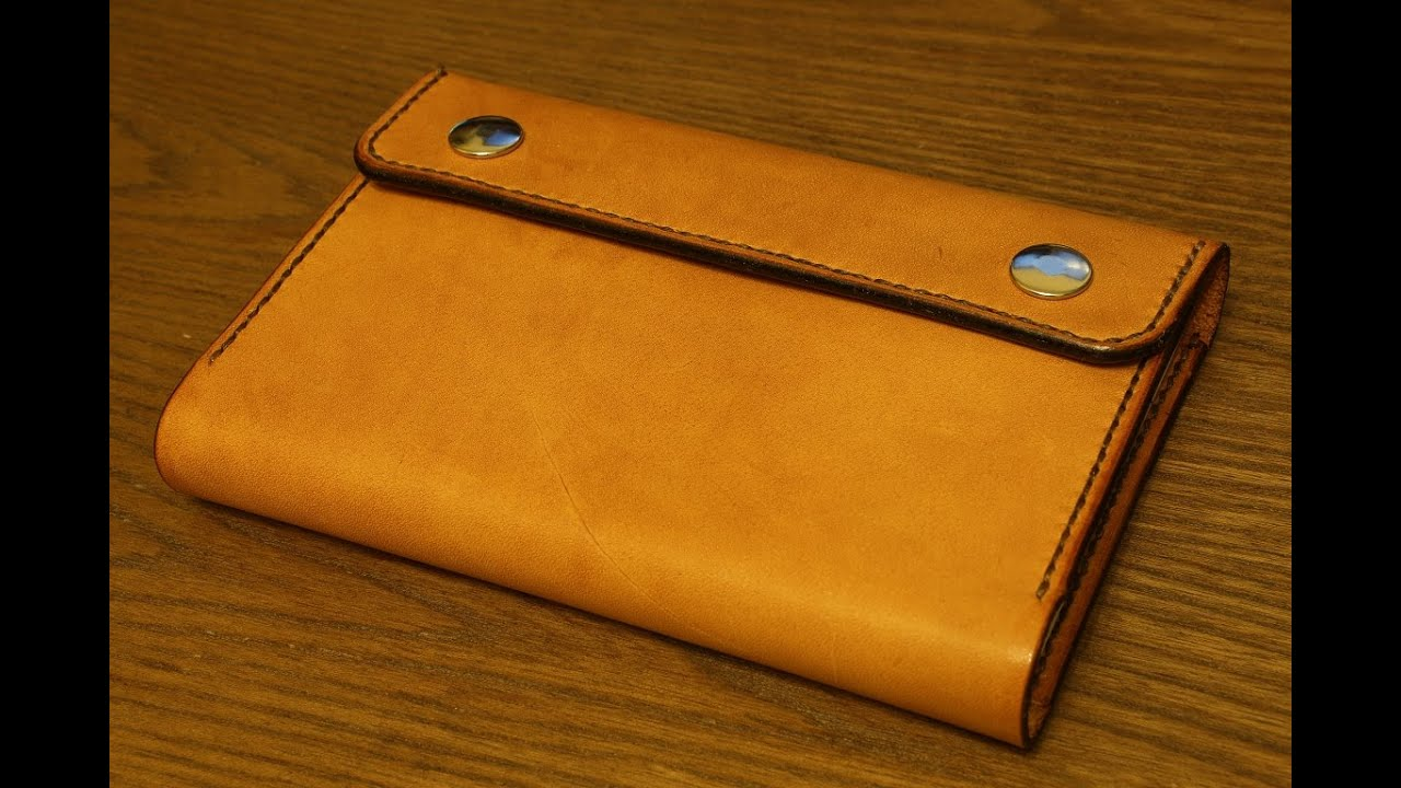 How To Cover A Notebook With Cover Paper : Making a leather notebook cover youtube