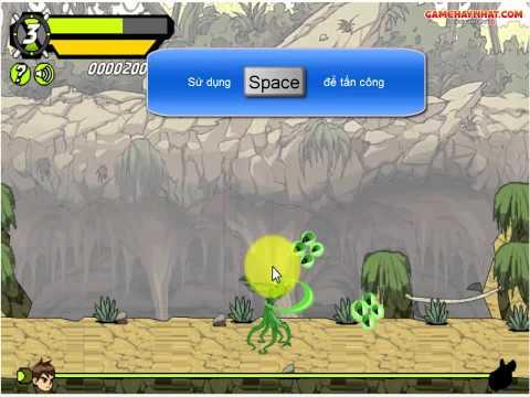 Ben 10 tiêu diệt quái vật khổng lồ - Game Hành Động - Gamehaynhat.com