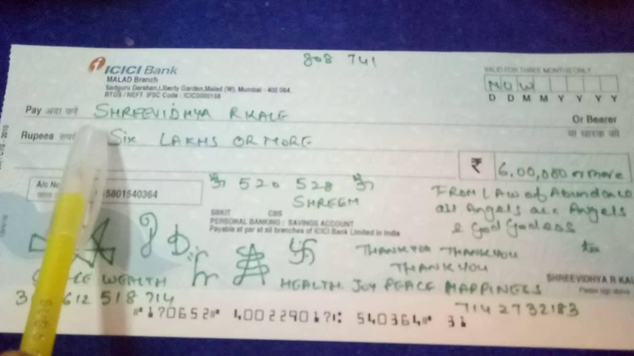 How to write your Abundance cheque Shreevidhya - YouTube