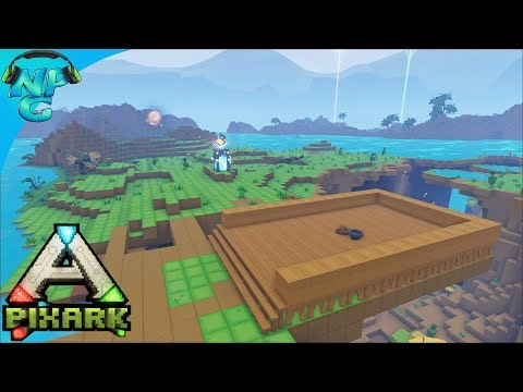 PixARK - Building a (Semi) Floating Base over the Cave for S
