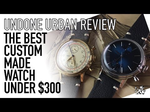 The Best Value, Customizable & Made To Order Chronograph Under $300 - Undone Urban Watch Review