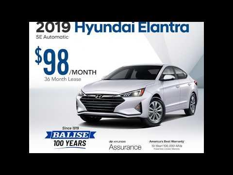 New 2019 Hyundai Elantra Lease - March 2019