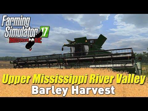 Harvesting On UMRV | Farming Simulator 17 | Upper Mississippi River Valley